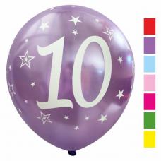 Balón číslo 10 mix metalických