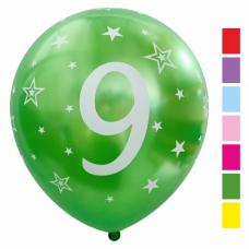 Balón číslo 9 mix metalický