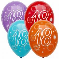 Narozeninový balónek číslo 18 5ks