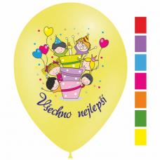 Narodeninové balóny Všechno nejlepší torta