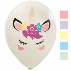 Balóny Jednorožec biele