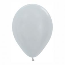 Balón metalický Strieborný 481 R12 - 30cm