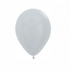 Balón metalický Strieborný 481 R5 - 13cm