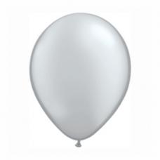 Balónik metalický strieborný 28cm Silver