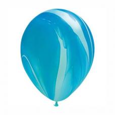 Balón modrý dúhový 28cm Blue Rainbow