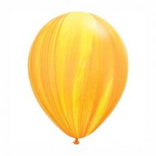 Balón oranžovo žltý dúhový 28cm Yellow Orange Rainbow