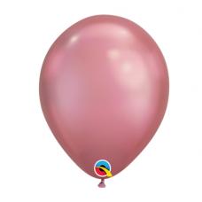 Balón metalický ružový Chrome Mauve Q11 - 28cm