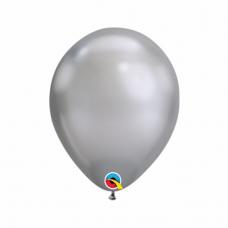 Balón metalický strieborný Chrome Silver Q7 - 18cm