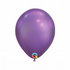Balón metalický fialový Chrome Purple Q7 - 18cm