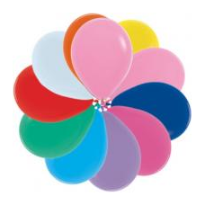 Balóny metalické SM11 mix 28 cm