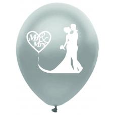 Balóny svadobné Mr & Ms strieborné