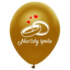 Balóny svadobné Navždy spolu zlaté
