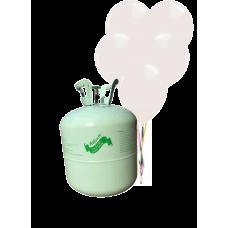 Hélium B50 na 50 bal. + 50 ks balónov - biele