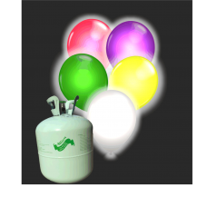 Hélium B50 + 30 ks balónov s LED farebným svetlom