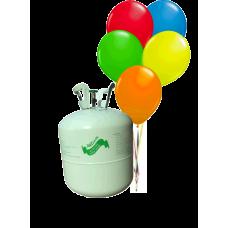 Hélium B50 na 50 bal. + 50 ks balónov - mix