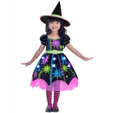 Dievčenský kostým Čarodejnica farebná