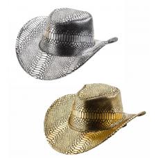 Klobúk kovbojský s hadím vzorom