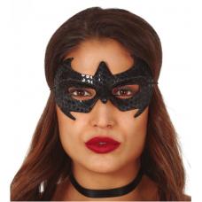 Pavúčia maska čierna