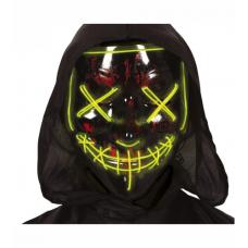 Maska čierna svietiaca