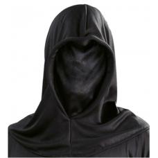 Maska čierna s kapucňou