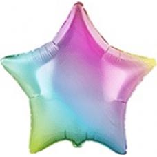 Balón Hviezda dúhová 45 cm