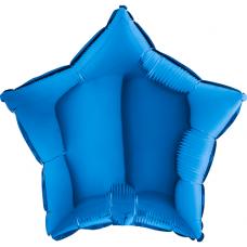 Balón hviezda Modrá 45 cm