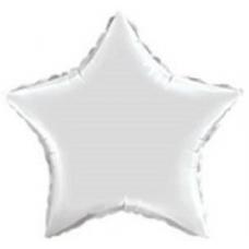 Balón Hviezda Biela 45 cm
