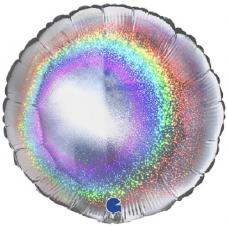 Balón Kruh Strieborný hologr. 45 cm