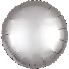 Balón Kruh strieborný saténový 45 cm