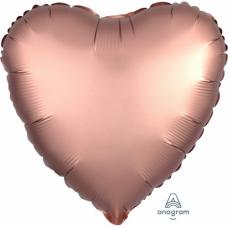 Balón Srdce rose gold saténové 45 cm