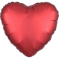 Balón Srdce červené saténové 45 cm