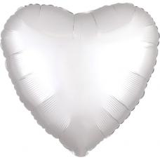Balón Srdce biele saténové 45 cm