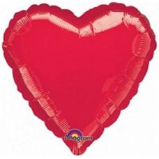 Balón Srdce 45 cm červené
