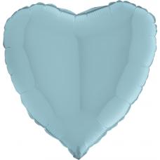 Balón srdce 45 cm Modrá Pastel