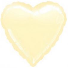 Balón Srdce 45 cm Krémové