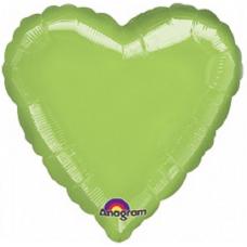 Balon Srdce 45 cm Limetková Zelená