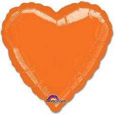 Balón Srdce 45 cm Oranžové