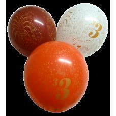 Balón narodeninový číslo 3