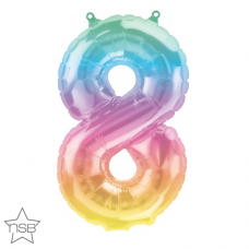 Balón Číslo 8 malé dúha