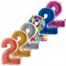 Balón narodeninový číslo 2 maxi