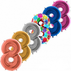 Balón narodeninový číslo 8 maxi