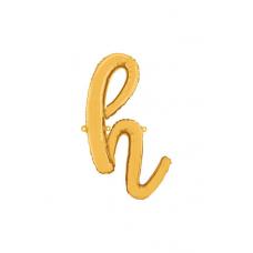 Písmeno malé zlaté H script