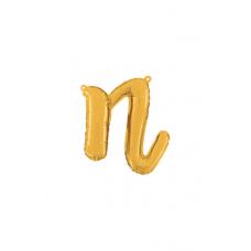 Písmeno malé zlaté N script
