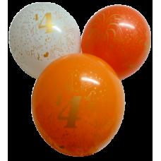 Balón narodeninový číslo 4