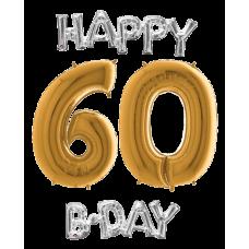 Balóny 60 Happy B Day