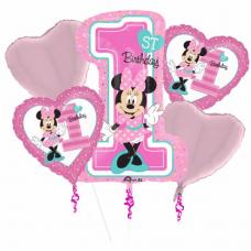 Kytica z balónov Minnie Mouse 1.narodeniny