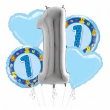 Kytica z balónov 1. narodeniny chlapec
