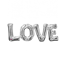 Balónový banner LOVE strieborný