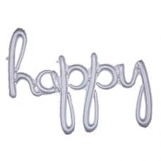 Balónový banner Happy script