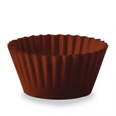 Jedlý košík na muffiny hnedý